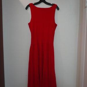 LAUREN by Ralph Lauren Red Knit Sleeveless Dress